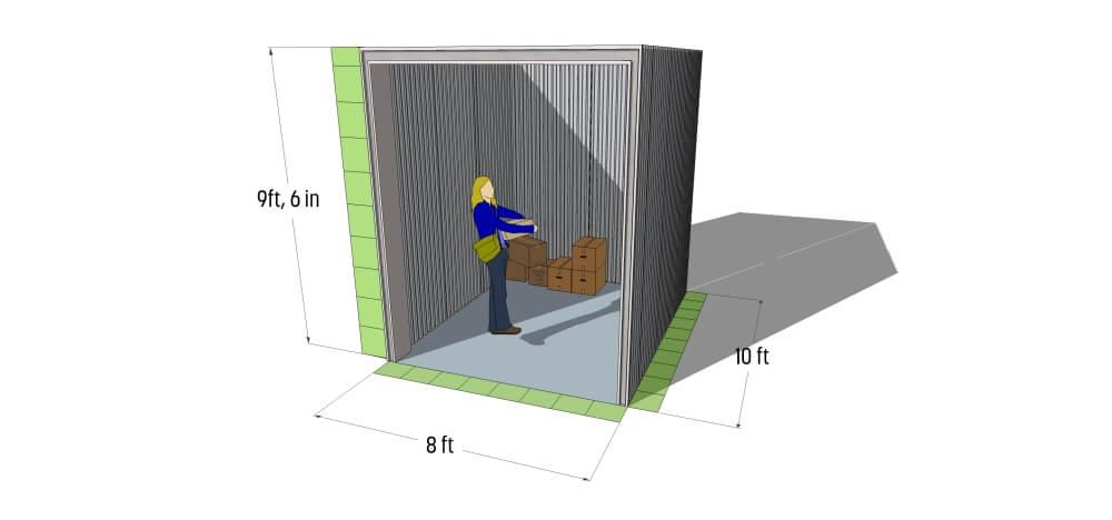 Self Storage Maidstone, Aylesford Storage -80sq. ft. Storage Unit